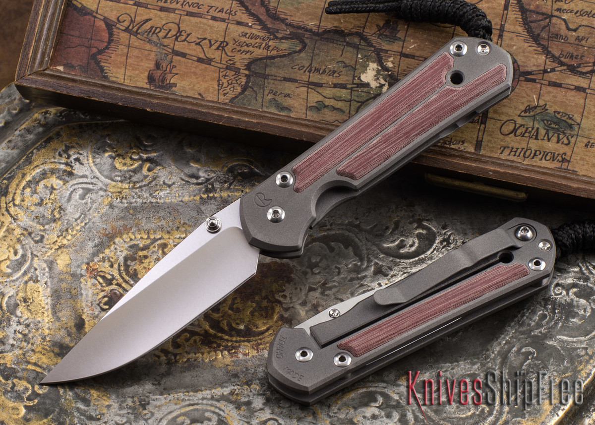 Chris Reeve Knives: Small Sebenza 21 - Red Linen Micarta Inlay primary image