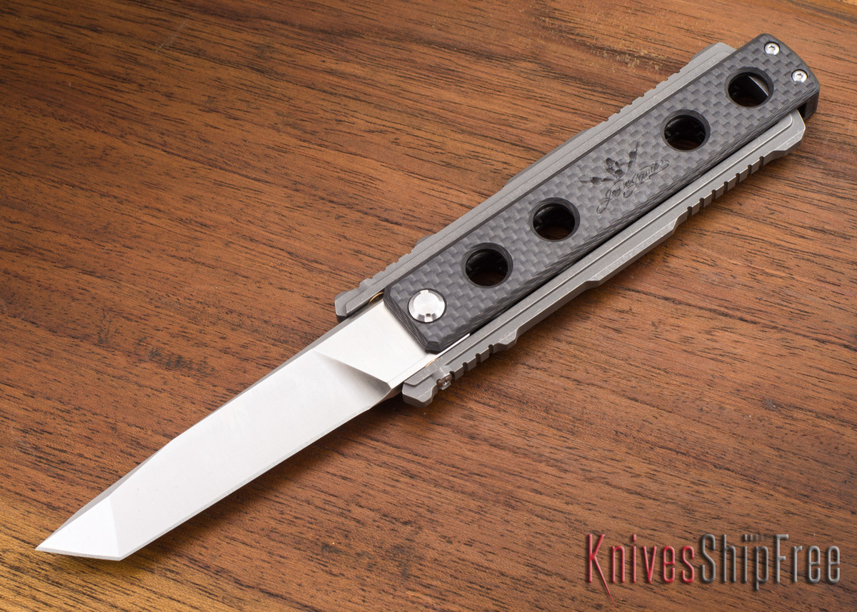 Jesse James Knife Company: Nomad - Carbon Fiber - Stonewashed - Tanto primary image