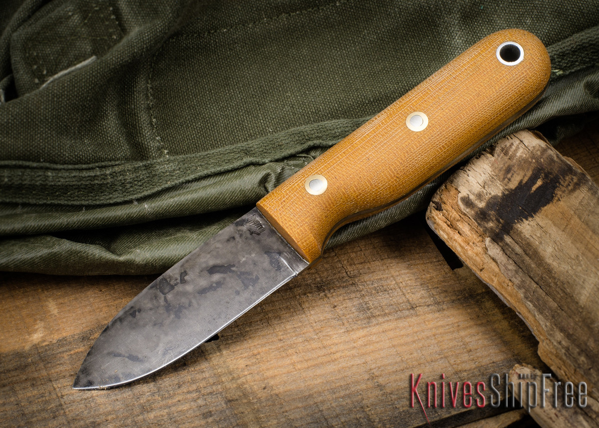 L.T. Wright Knives: Bushbaby HC - 1075 Carbon Steel w/ Sheath primary image