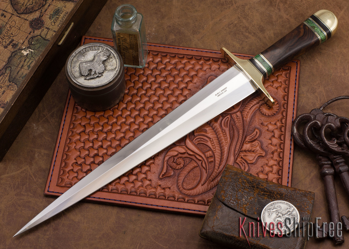 Alan Warren Knives: Toothpick - Ironwood - Burl Spacers primary image
