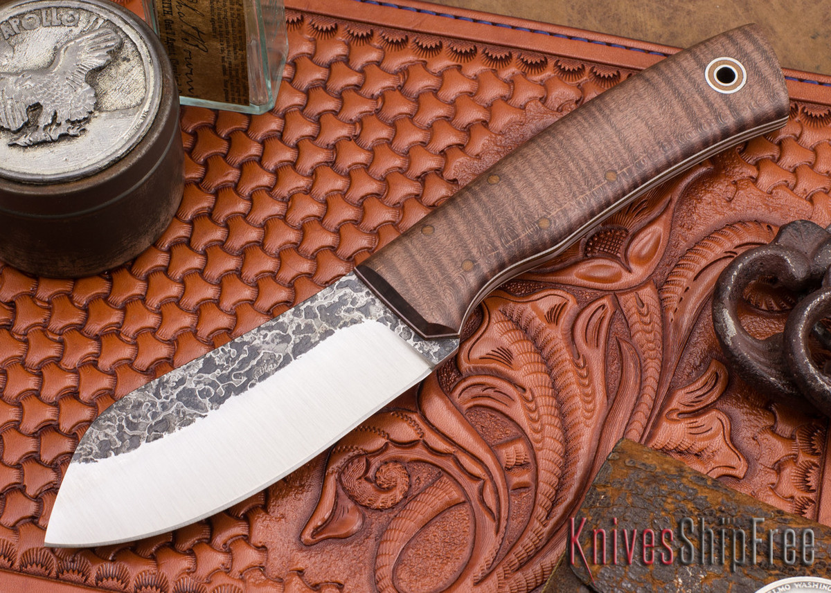 Fiddleback Forge: Camp Muk - Curly Maple - Natural & White Liners - A2 Steel primary image