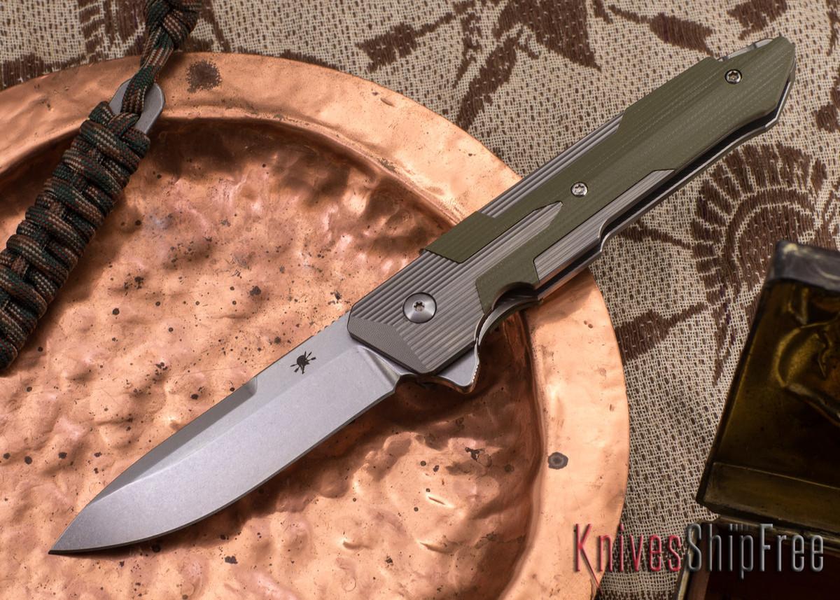 Spartan Blades: Kranos - Titanium - Green G-10 primary image