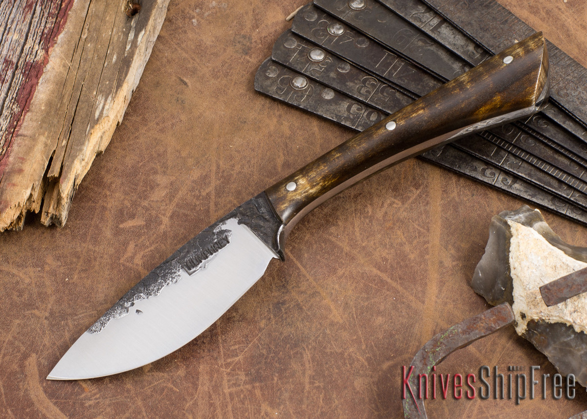 Lon Humphrey Knives: Custom Muley - Forged 52100 - Dark Curly Maple #202 primary image