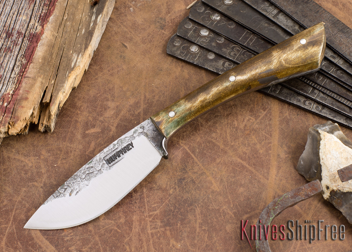 Lon Humphrey Knives: Custom Muley - Forged 52100 - Dark Curly Maple #205 primary image