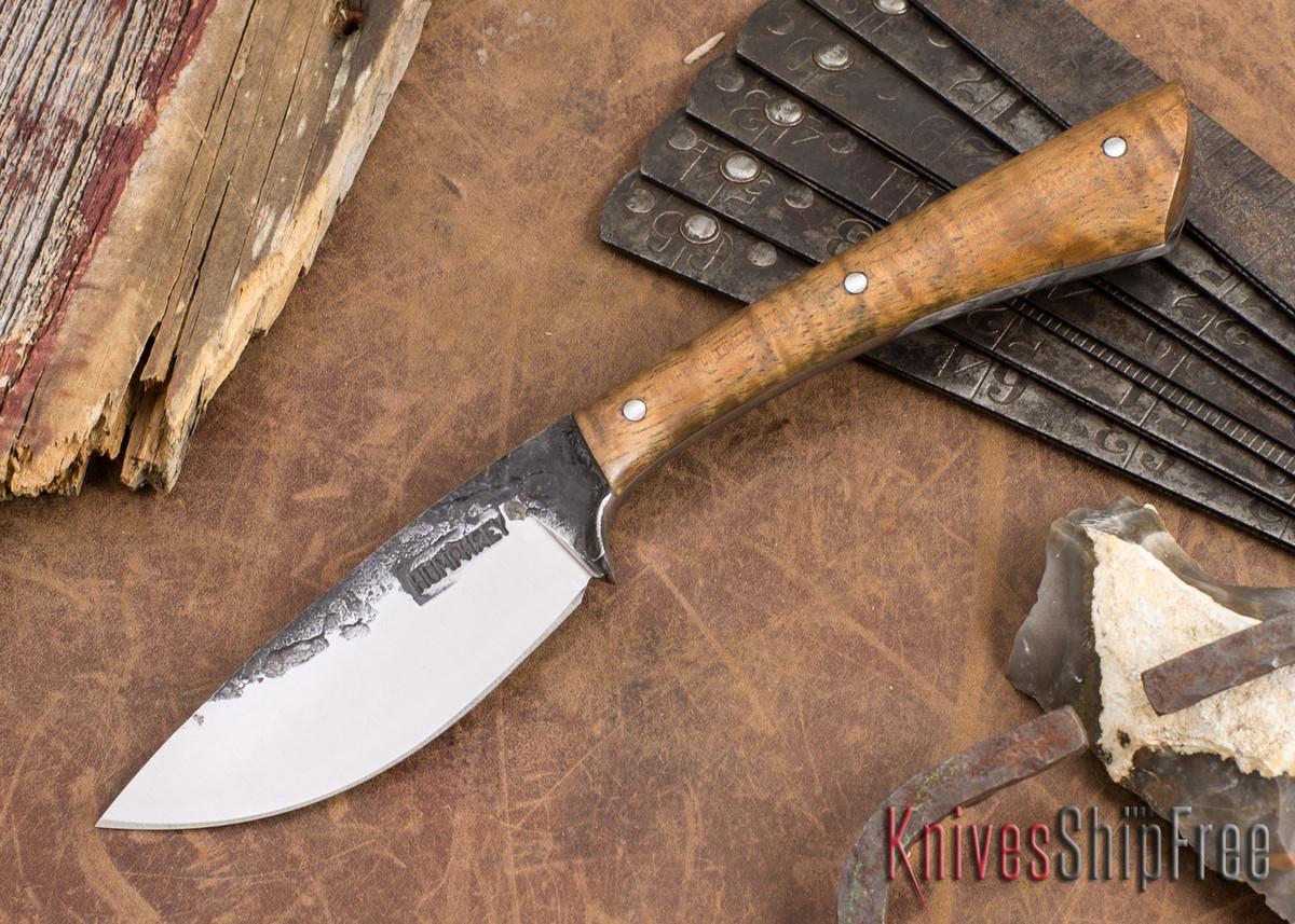 Lon Humphrey Knives: Custom Muley - Forged 52100 - Curly Koa #220 primary image