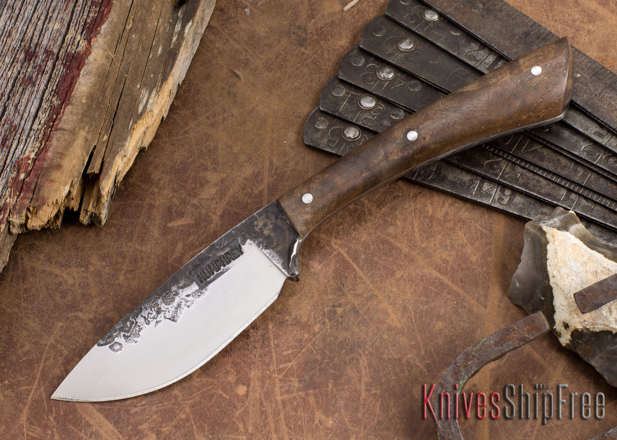Lon Humphrey Knives: Custom Muley - Forged 52100 - Claro Walnut Burl #251 primary image