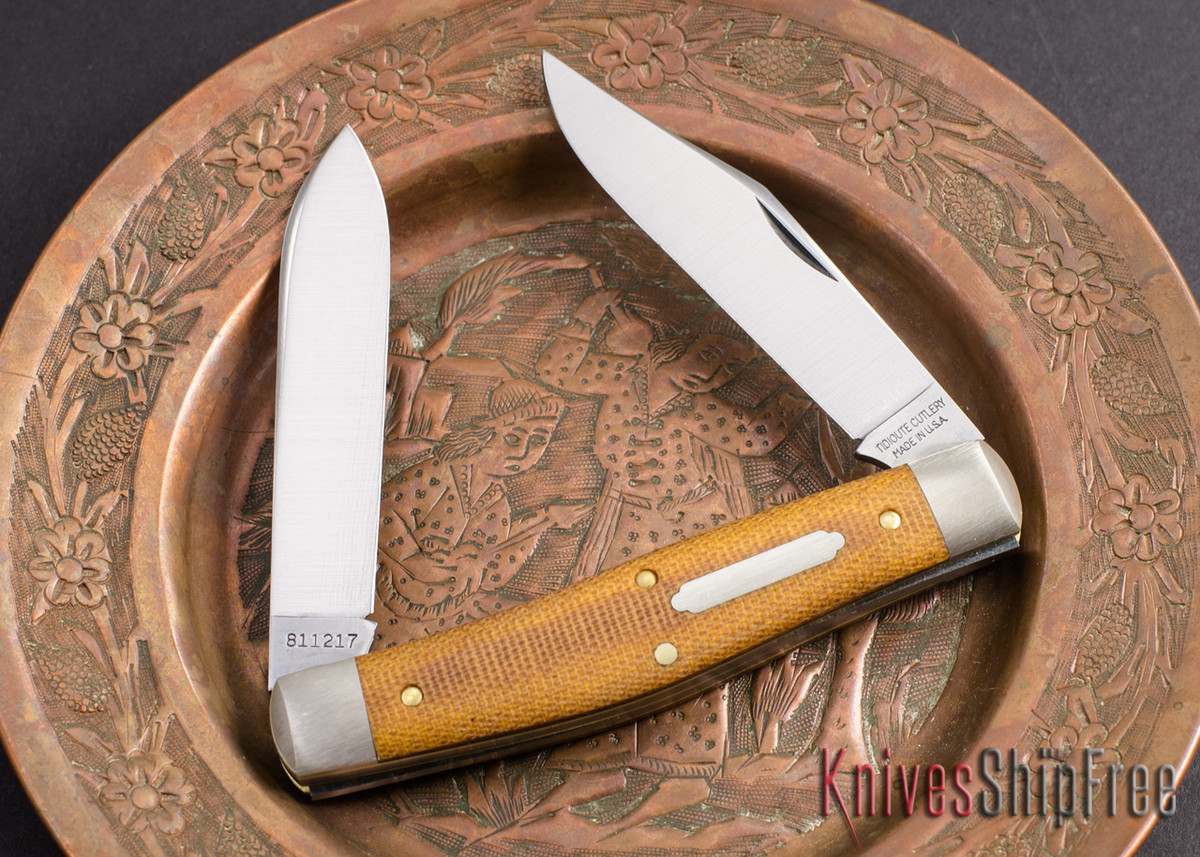 Great Eastern Cutlery: #81 Tidioute - Bull Moose - Natural Canvas Micarta primary image