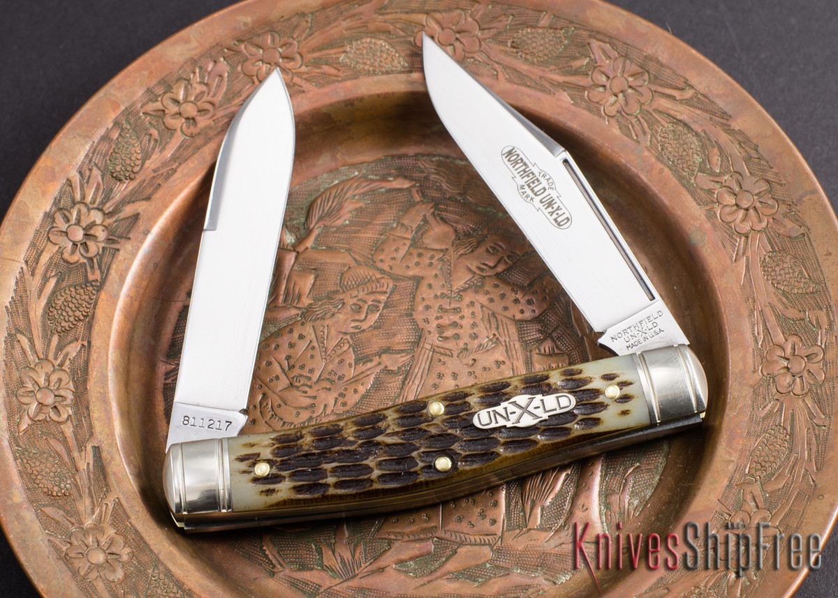 Great Eastern Cutlery: #81 Northfield UN-X-LD - Bull Moose - Antique Amber Jigged Bone primary image