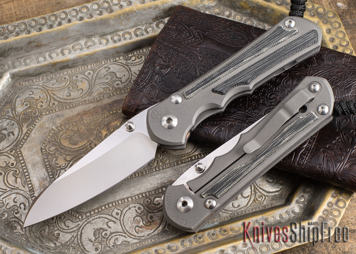 Chris Reeve Knives: Large Inkosi - Black Canvas Micarta Inlay - Insingo Grind primary image