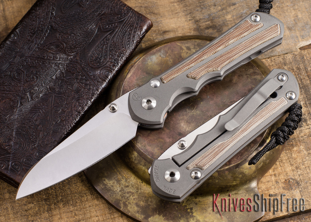 Chris Reeve Knives: Large Inkosi - Natural Canvas Micarta Inlay - Insingo Grind primary image