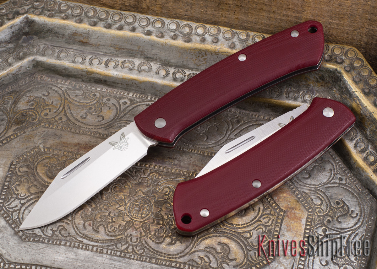Benchmade Knives: 318-1 Proper - Slipjoint - Red G-10 - Clip Point primary image