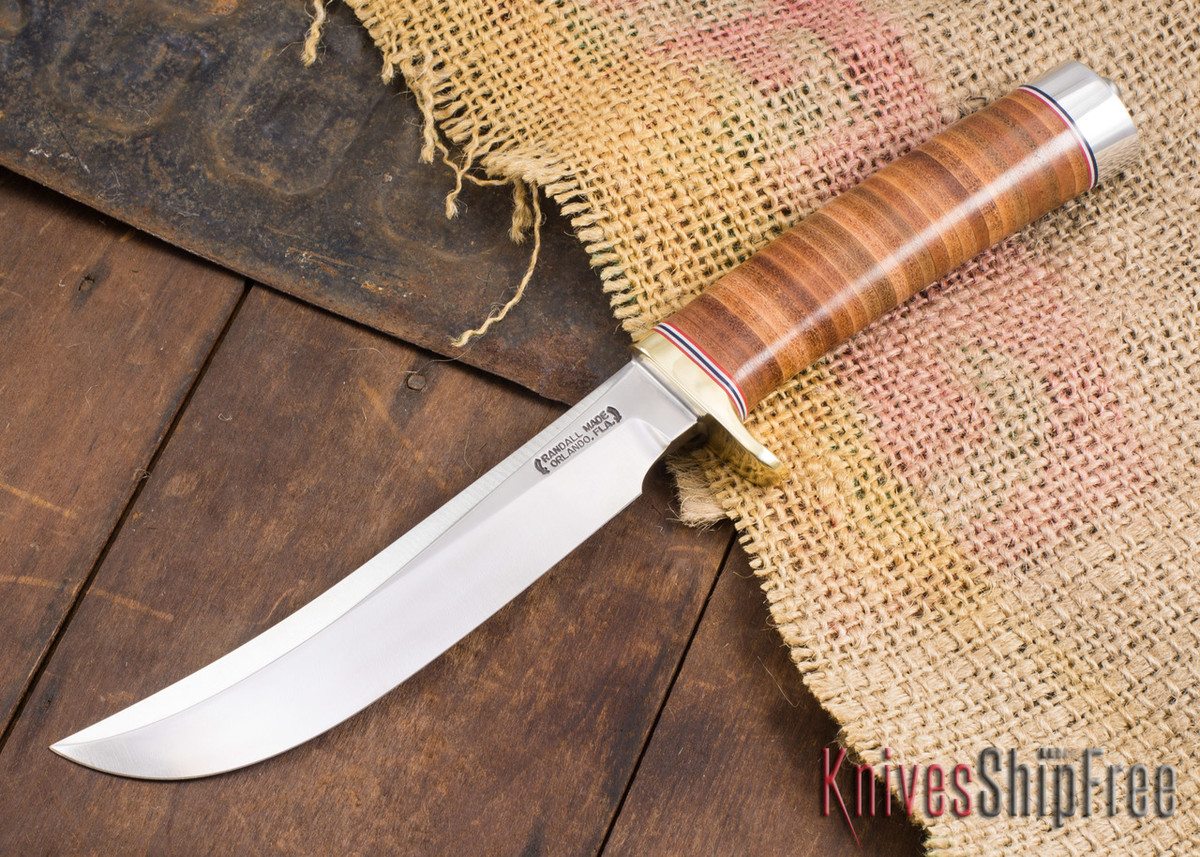 Randall Made Knives: Model 4-6 Big Game & Skinner - Stacked Leather - 120810 primary image