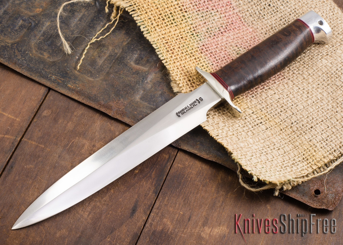Randall Made Knives: Model 2-8 Fighting Stiletto - Custom Wood - 120906 primary image