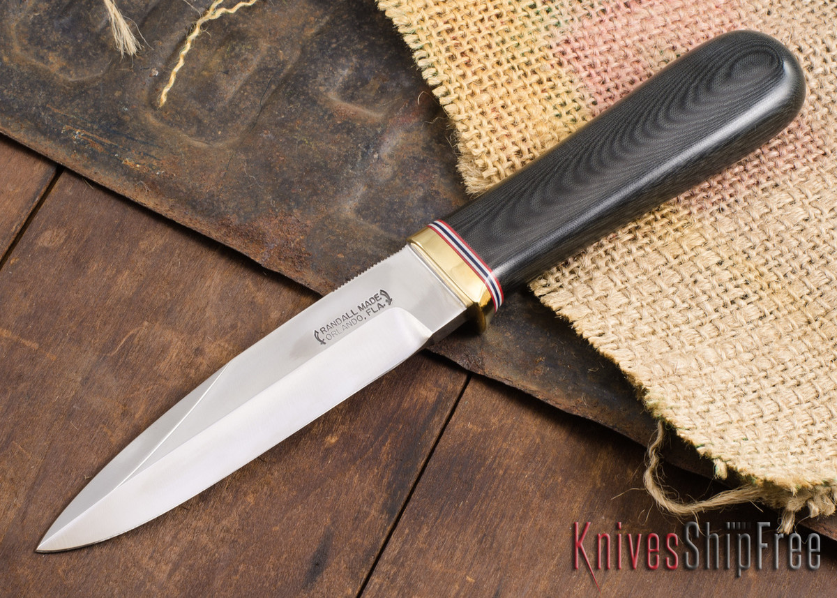 """Randall Made Knives: Gambler 5"""" - Black Micarta - 120909 primary image"""
