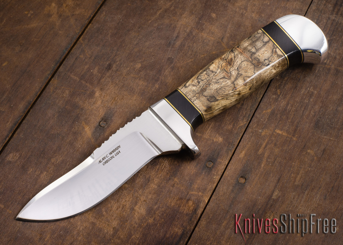 Alan Warren Knives: #2183 - Humpback Hunter - Spalted Maple - Blackwood primary image