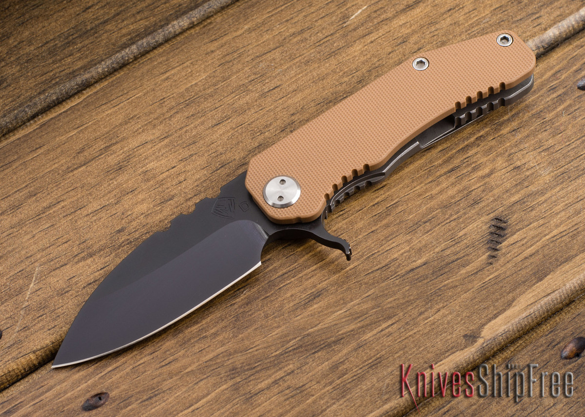 "Medford Knife & Tool: 187 ""F"" Flipper - Coyote G-10 / Ti - Gray PVD primary image"