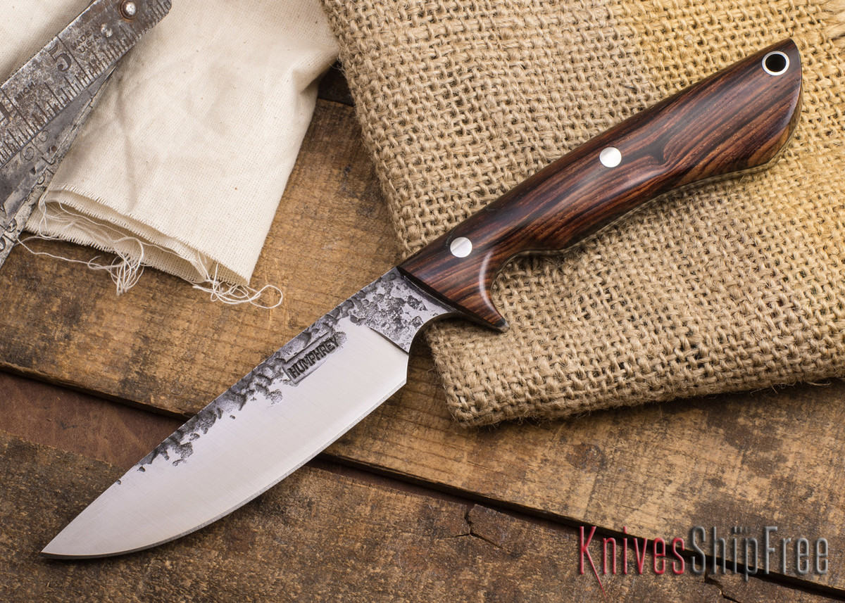 Lon Humphrey Knives: Bridger - Cocobolo - Purple Liners #1 primary image