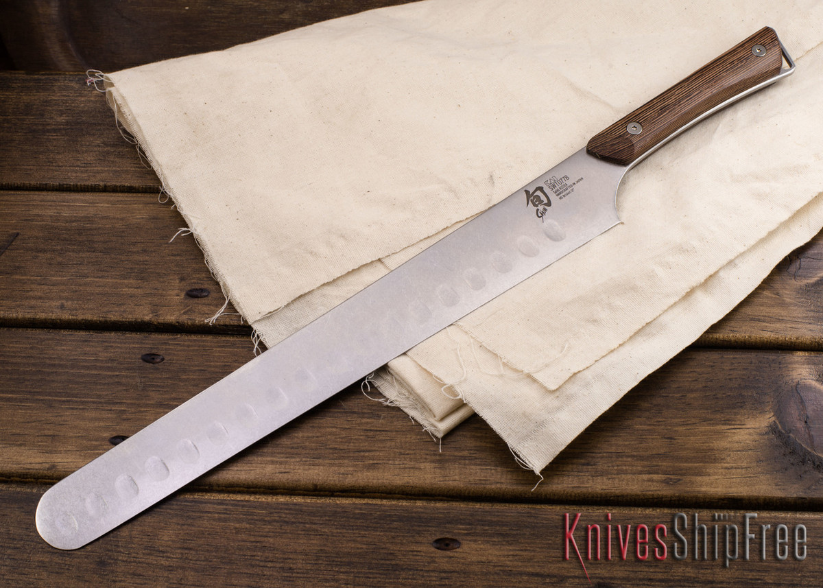 "Shun Knives: Kanso Hollow-Ground Brisket Knife 12"" w/ Saya - SWT0778 primary image"