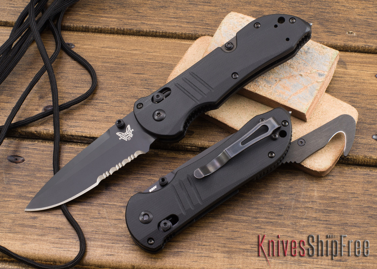 Benchmade Knives: 917SBK Tactical Triage - Black Serrated Blade - Seatbelt Cutter primary image