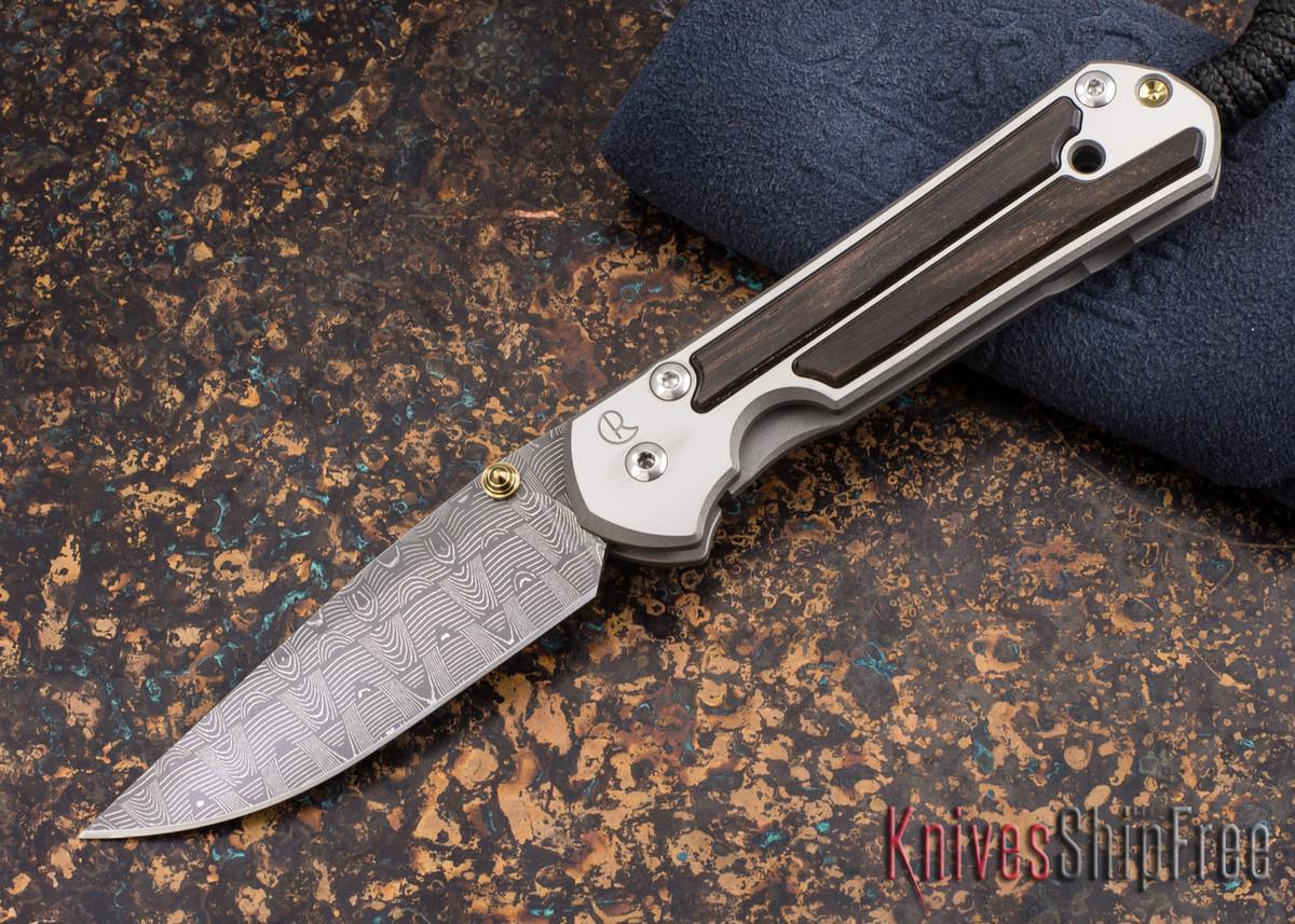 Chris Reeve Knives: Small Sebenza 21 - Macassar Ebony - Basketweave Damascus - 011838 primary image