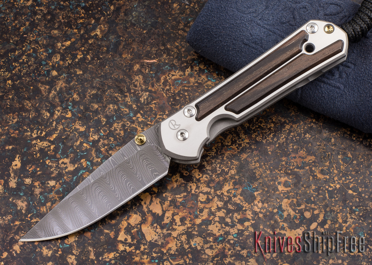 Chris Reeve Knives: Small Sebenza 21 - Macassar Ebony - Ladder Damascus - 011865 primary image