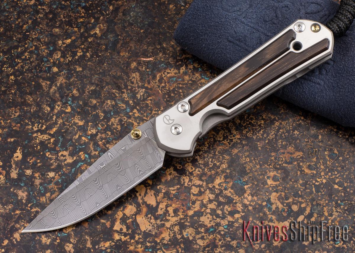 Chris Reeve Knives: Small Sebenza 21 - Macassar Ebony - Basketweave Damascus - 011874 primary image