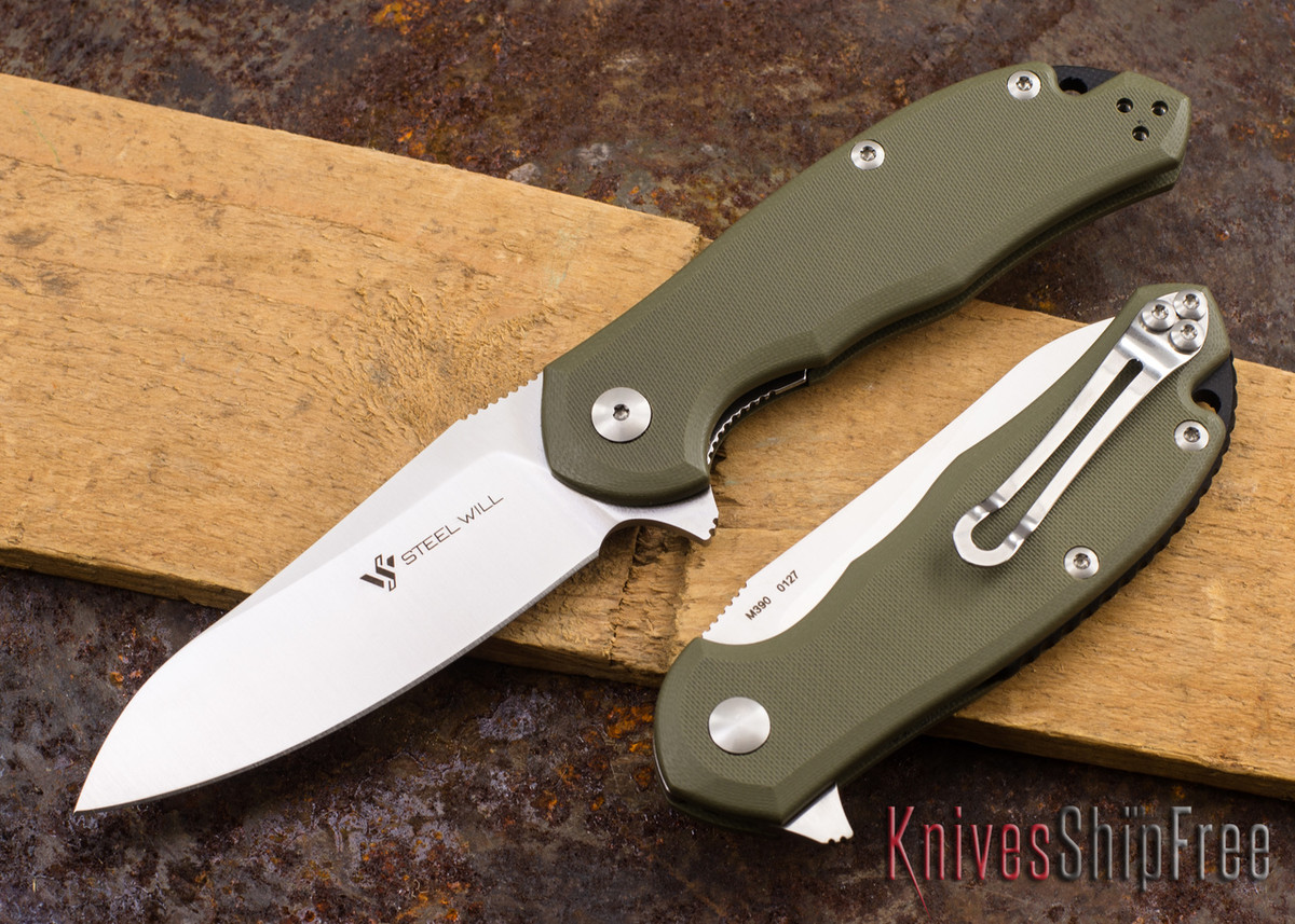 Steel Will Knives: Modus - Green G-10 - M390 Steel primary image