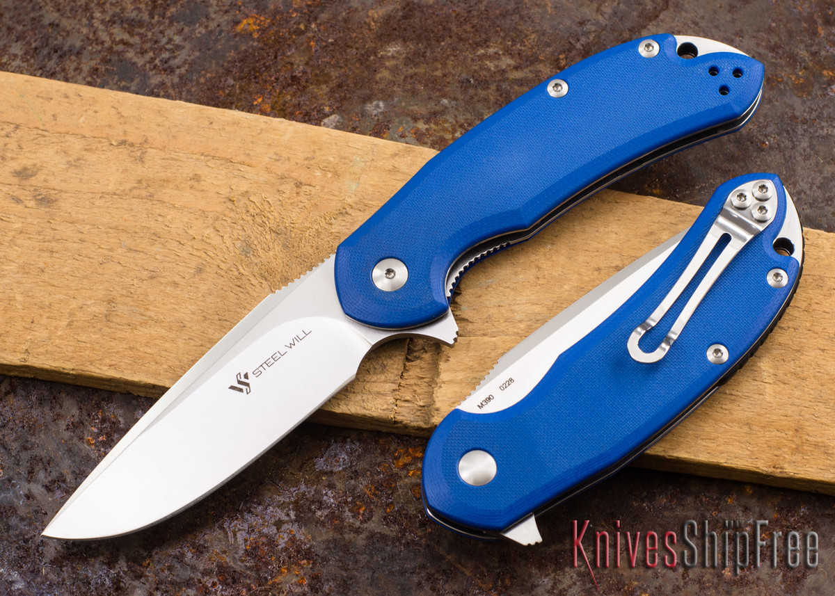 Steel Will Knives: Cutjack - Blue G-10 - M390 Steel primary image