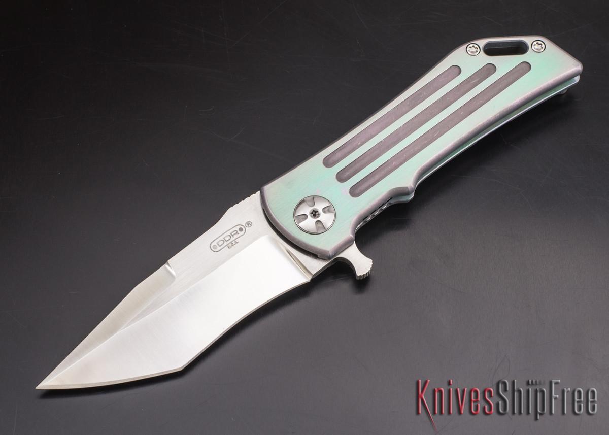 Darrel Ralph - DDR Knives: Dominator 3.5 - CPM-S35VN - Titanium Framlock - Grooves - Recurve Tanto primary image