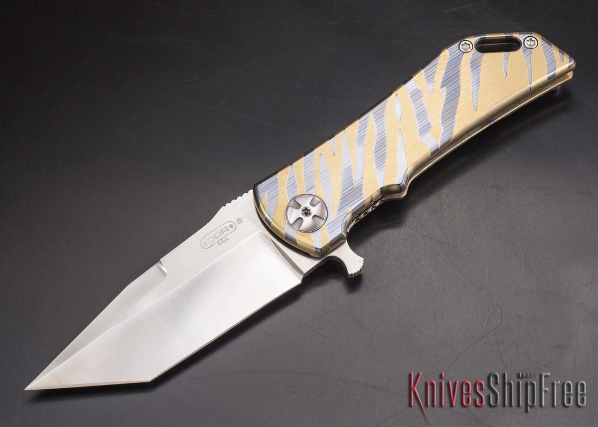 Darrel Ralph - DDR Knives: Dominator 3.5 - CPM-S35VN - Titanium Framlock - Gold Tiger - Tanto primary image