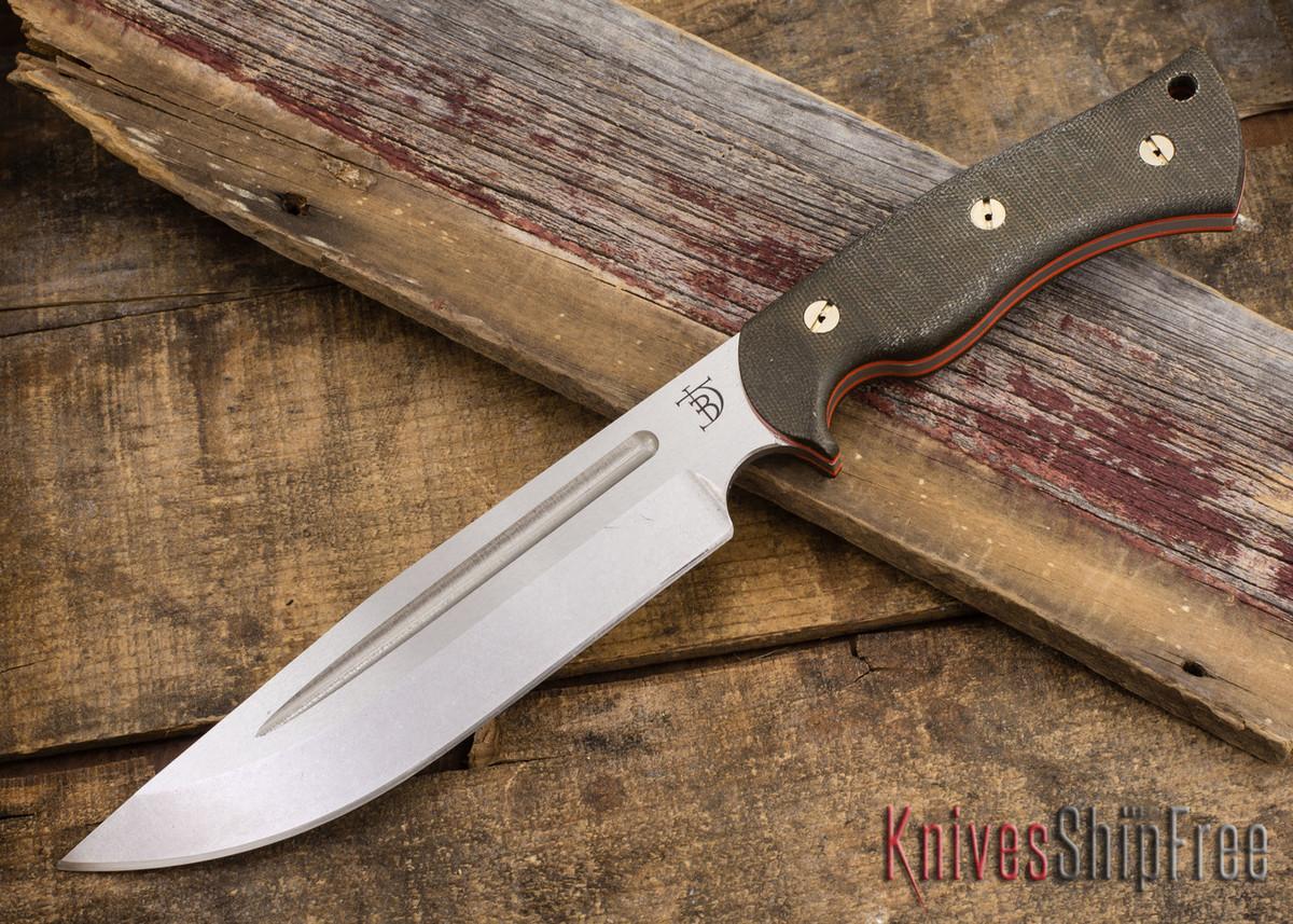 dark timber knives honey badger cpm 3v green micarta orange liners tumbled all knives. Black Bedroom Furniture Sets. Home Design Ideas