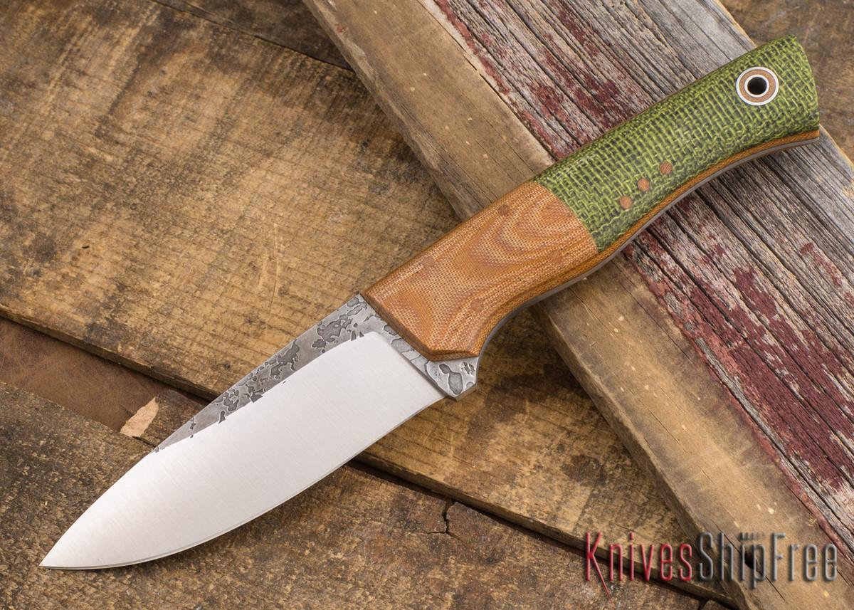 Fiddleback Forge: Hunter - Natural Bolstered Evergereen Burlap - FF08BD007 primary image