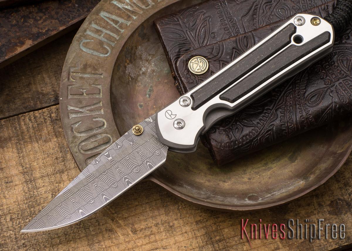 Chris Reeve Knives: Small Sebenza 21 - Bog Oak - Basketweave Damascus - 021529 primary image