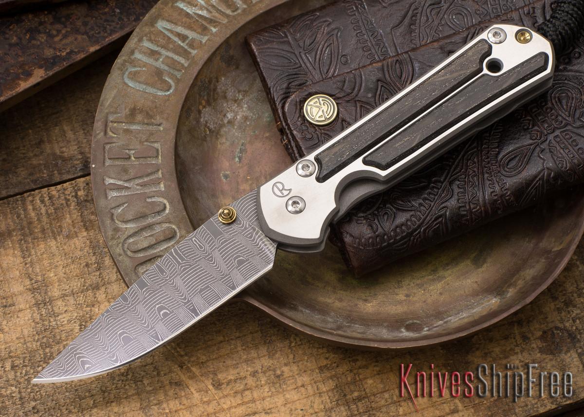 Chris Reeve Knives: Small Sebenza 21 - Bog Oak - Basketweave Damascus - 021532 primary image