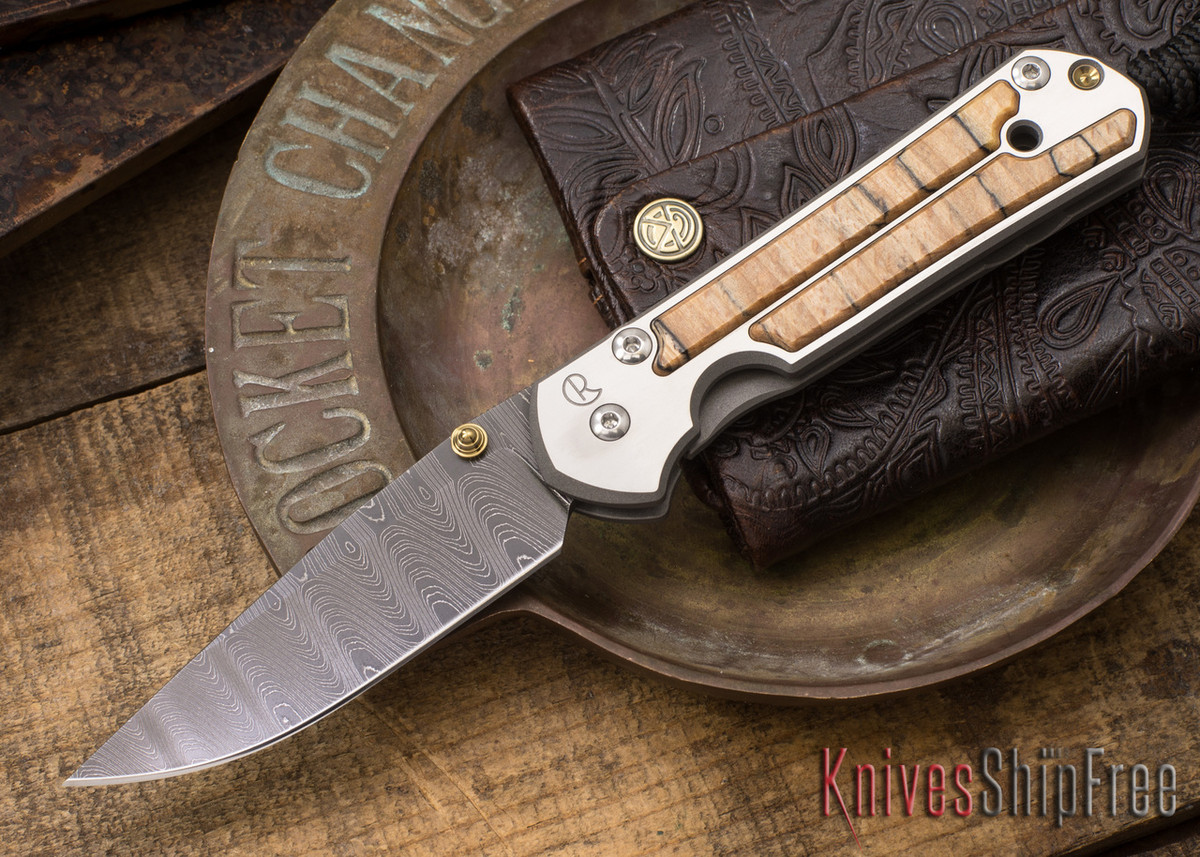 Chris Reeve Knives: Small Sebenza 21 - Spalted Beech - Ladder Damascus - 021538 primary image