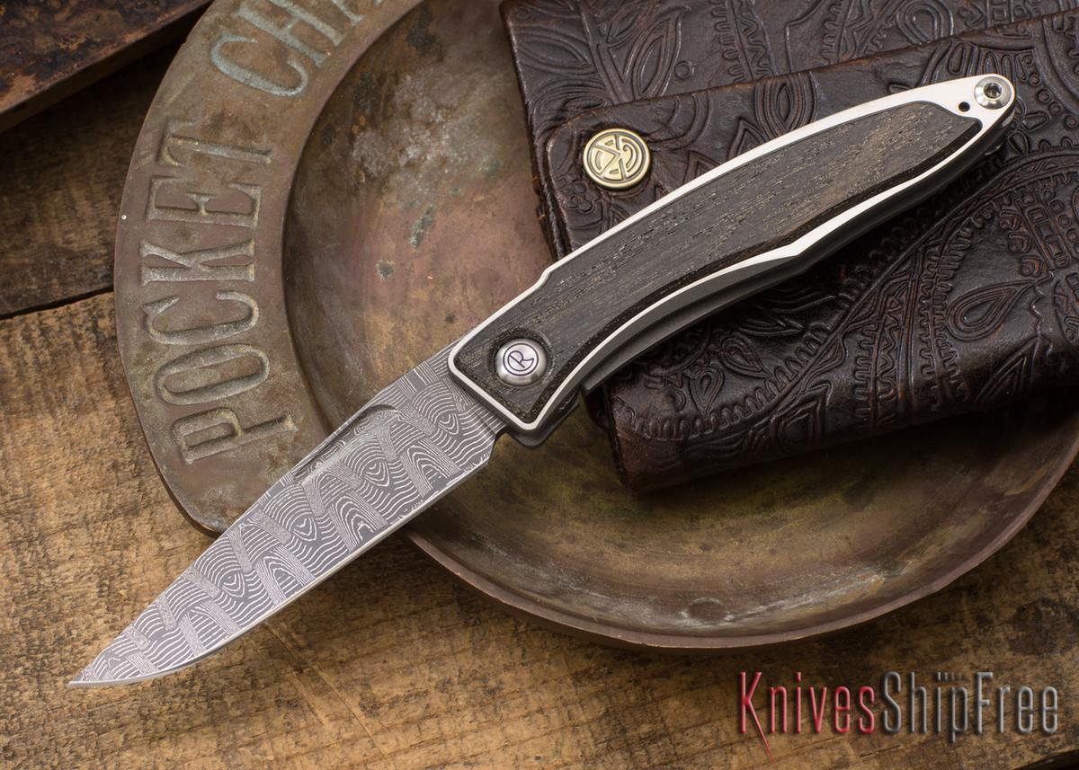 Chris Reeve Knives: Mnandi - Bog Oak - Basketweave Damascus - 021577 primary image