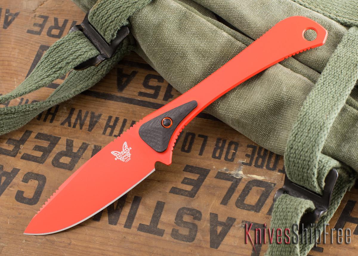 Benchmade Knives: 15200DLC Altitude - Hunt Series - CPM-S90V - Carbon Fiber - Orange primary image