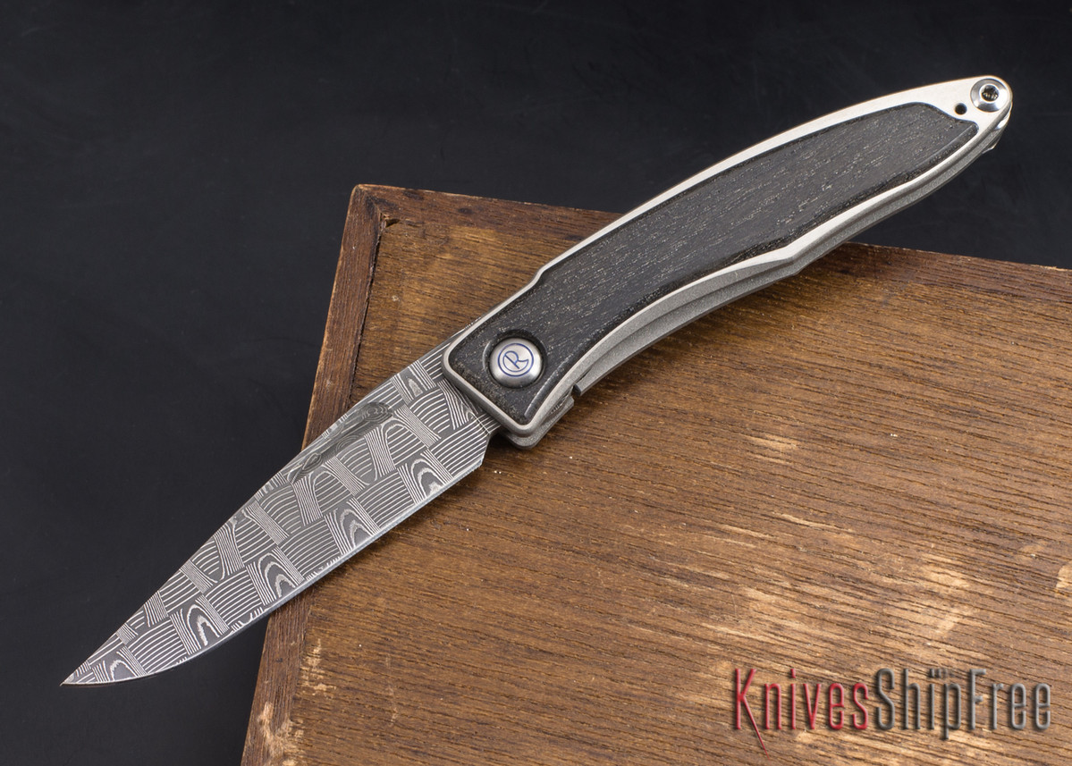 Chris Reeve Knives: Mnandi - Bog Oak - Basketweave Damascus - 022104 primary image