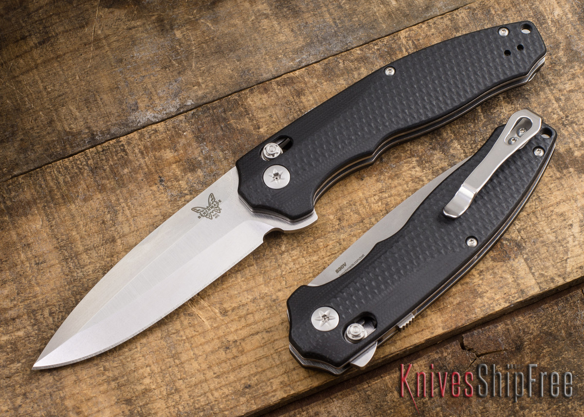 Benchmade Knives: 495 Vector - AXIS Assist Flipper - CPM-S30V - Black G-10 primary image