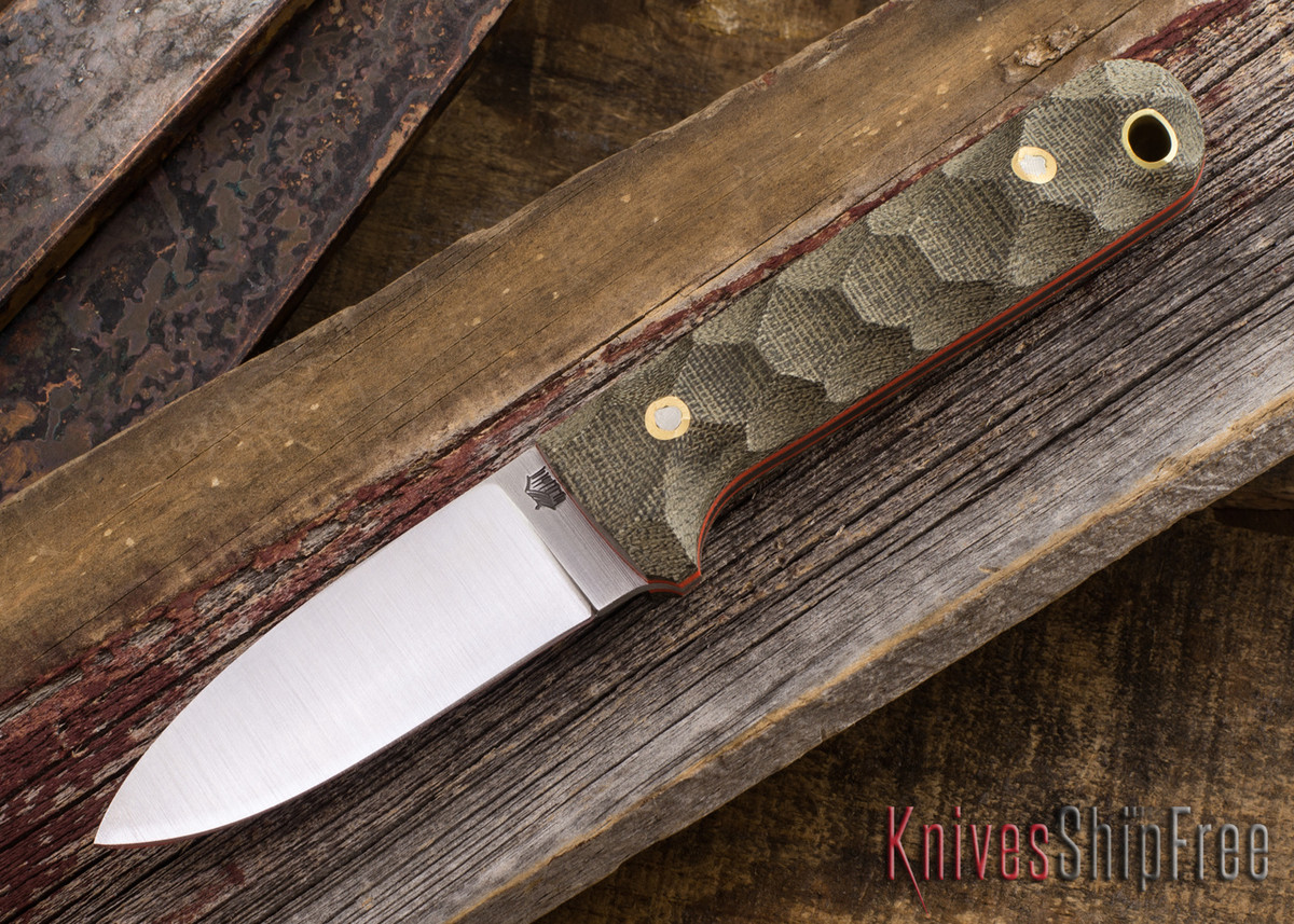 L.T. Wright Knives: Next Gen - Green Mountain Micarta - Orange Liners primary image