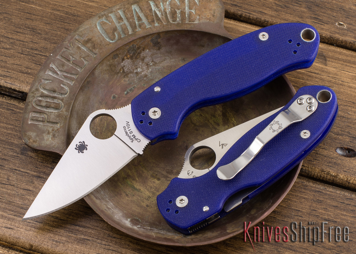 Spyderco: Para 3 - Dark Blue G-10 - CPM-S110V - C223GPDBL primary image