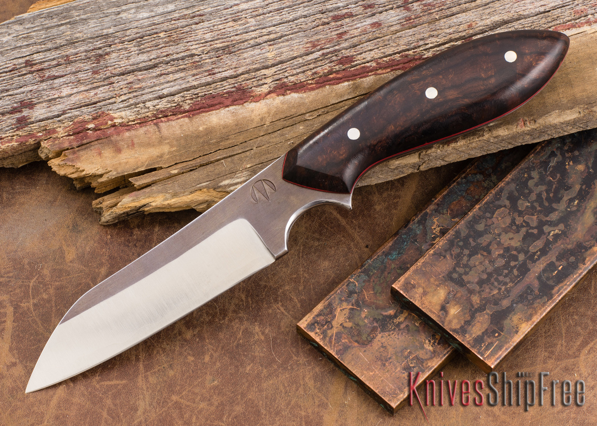 Carter Cutlery: Muteki #1321 Wharncliffe - Ironwood - Red Liners primary image