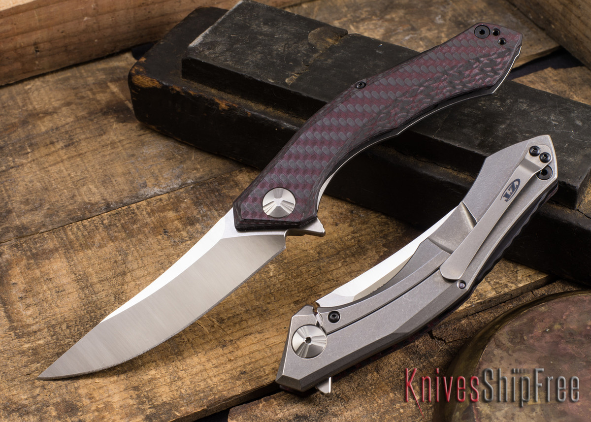 Zero Tolerance: 0462 Sinkevich Flipper - Red Carbon Fiber - Titanium - CPM-20CV primary image