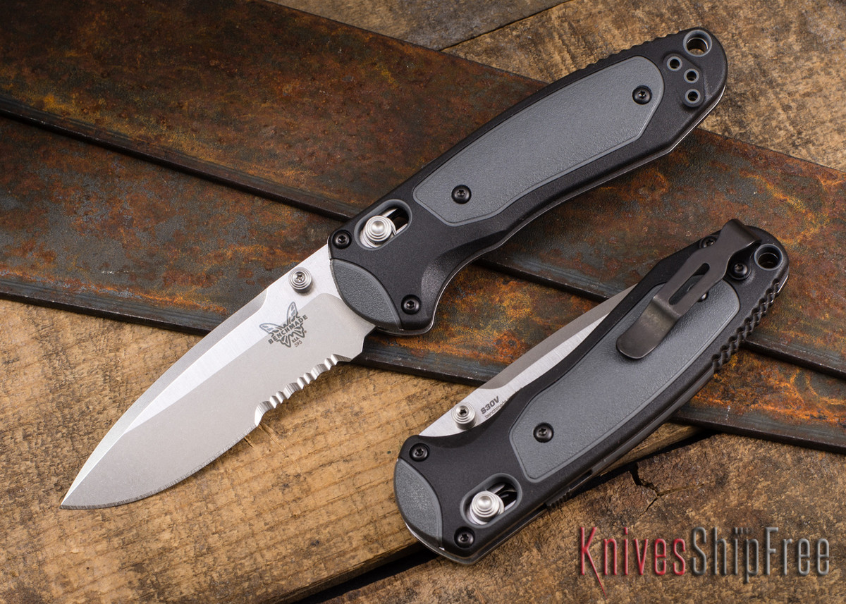 Benchmade Knives: 595S Mini Boost - AXIS Assist - CPM-S30V - Versaflex - Serrations primary image