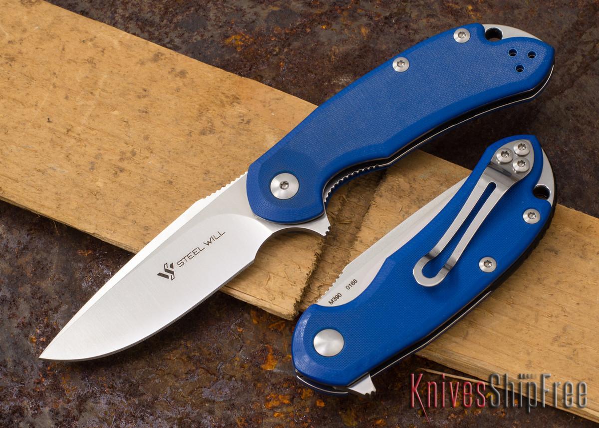 Steel Will Knives: Cutjack Mini - Blue G-10 - M390 Steel primary image