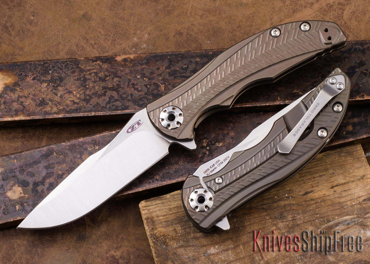 Zero Tolerance: 0609 RJ Martin Flipper - Anodized Titanium - CPM-20CV primary image