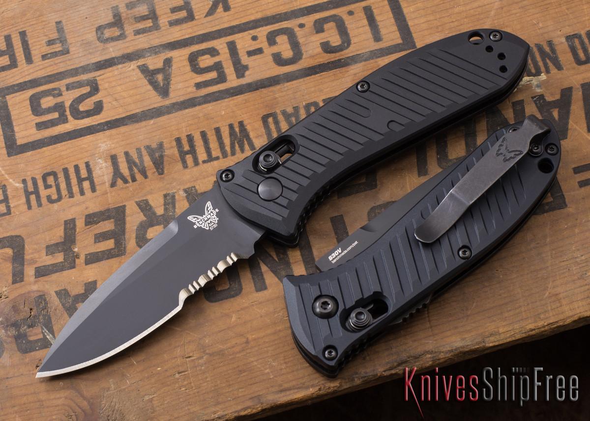 Benchmade Knives: 5750SBK Mini Auto Presidio II - Serrated Black Blade primary image