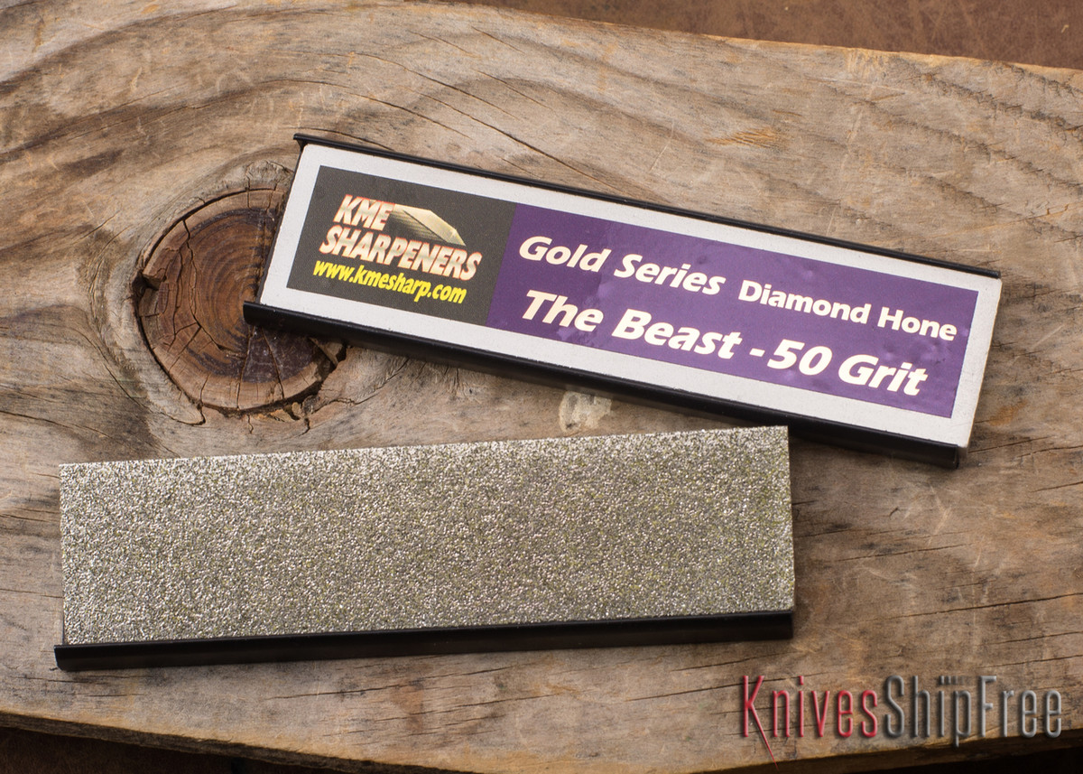 "KME Precision Knife Sharpening System - ""The Beast"" 50-Grit Diamond Stone primary image"