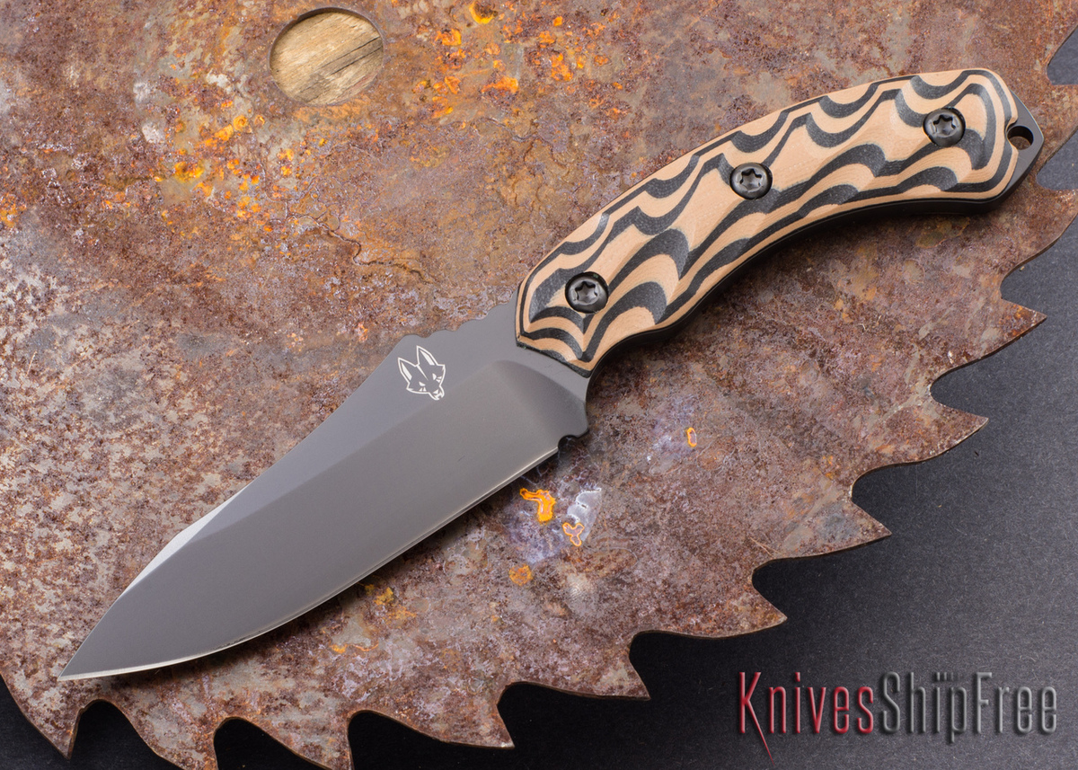 Southern Grind: Jackal - Black Blade - Black & Tan G-10 - Black Kydex Sheath primary image