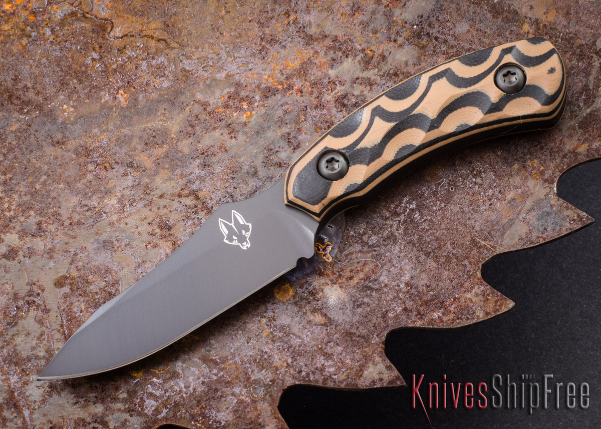 Southern Grind: Jackal Pup - Black Blade - Black & Tan G-10 - Black Kydex Sheath primary image